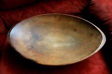 VINTAGE CARVED WOOD DOUGH BOWL