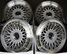 "17"" SILVER RS GS ALLOY WHEELS FIT NISSAN SKYLINE GTST GTR GTT 200 300ZX 350Z S14"
