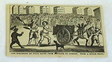 1878 magazine engraving ~ SCOURGING OF TITUS OATES FROM NEWGATE TO TYBURN- Dutch