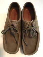 Clarks Originals Wallabee Women's 7 1/2 M Lace-Up Suede Shoes Brown
