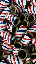 "25 FIREWORKS PYRO Cardboard Tubes 1/4 Stick Red/White/Blue 1"" x 2-1/2"" x 3/32"""
