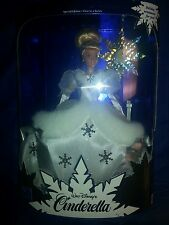 NEW Rare MATTEL WALT DISNEY CINDERELLA PRINCESS HOLIDAY BARBIE DOLL 1996