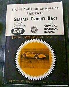 vtg 1969 SEAFAIR TROPHY RACE program - drag racing seattle international raceway