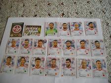 Panini WM 2018 Russia Mannschaftspaket Tunesien 20 Sticker 553-571+Glitzer 552