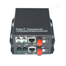 2 Channels Telephone Extenders -Tel over Fiber Optic PCM Voice with Ethernet FC