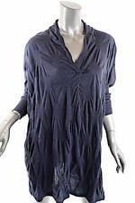 YOSHI YOSHI by PJ Indigo Blue Lyocell/Wool Tunic Sweater Top -NWT- Sz 3+4 - $369
