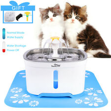 Automatic Electric Pet Water Fountain Cat/Dog Drinking Dispenser w/ Filter +Mat