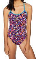 TYR Womens Swimwear Blue Yellow Size 36 Santa Marta Trinityfit Swimsuit $59 260