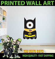 Wall art Graphic DESPICABLE ME BATMAN BATMINION MINION Printed Vinyl Sticker