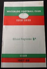 1968 WATERLOO v RICHMOND programme