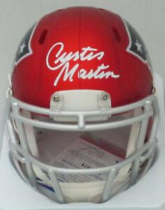 Patriots Hall of Famer CURTIS MARTIN Signed Riddell BLAZE Mini Helmet AUTO - PSA
