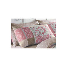 Dreams N Drapes Shantar Patchwork Printed Duvet Cover and Pillowcase Set Pair of Pillowcases Pink