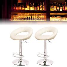 2pcs Barhocker Tresenhocker Barstuhl Lounge Sessel Gepolstert Drehsessel Beige