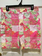 Lilly Pulitzer Resort Fit Patchwork Shorts Size 4. Nice!