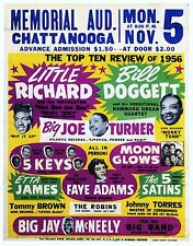 """Little Richard Chattanooga 16"""" x 12"""" Photo Repro Concert Poster"""