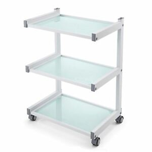 Glass Salon Trolley Hairdressing Beauty Spa Product Display Cabinet by Urbanity