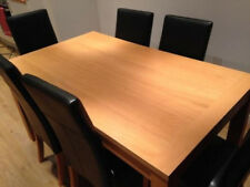DINING TABLE 6 BROWN CHAIRS HOMEBASE