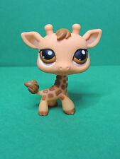 #440 Yellow Brown Girafe brown eyes LPS Littlest Pet Shop Figurine
