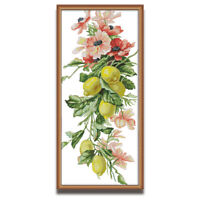 Counted Cross Stitch Kit Flowers Countless Rich Fruits Printed Unprinted 14CT
