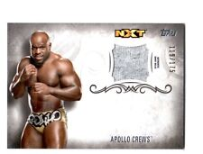 WWE Apollo Crews 2016 Topps Undisputed Event Worn Shirt Relic Card SN 119 of 175