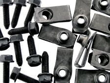 Body Bolts & U-nut Clips- M6-1.0 x 20mm Long- 10mm Hex- 40 pcs (20ea)- LD#135F
