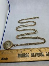 192o's Elgin Pendant Pocket Watch  cal.431 Gold Filled Case & Xtra Long Chain