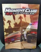 "Playstation 3 PS3 Midnight Club Los Angeles Game Poster 20"" x 14"" RockStar Games"