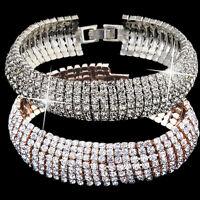 Elegant Women's Fashion Crystal Rhinestone Cuff Bracelet Bangle Jewelry Gift Hot