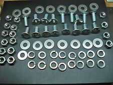 16 pack Mopar bumper bolts nuts locks & flat washers stainless capped 16 pcs
