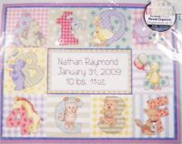 Zoo Alphabet Birth Record Counted Cross Stitch Embroidery Kit Dimensions 73472