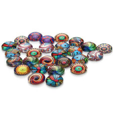 Making Supplies Ethnic Ring Accessories Glass Ethnic Pattern Cabochon Dome