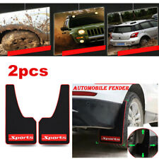2x Car Styling Accessories Sports Rubber Rear Mud Flaps Guards Splash Protector