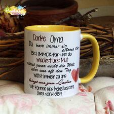 Tasse / Danke Oma (WIR) -GELB- / Geschenk Muttertag Weihnachten