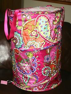 VERA BRADLEY POP-UP LAUNDRY BAG  Hamper Storage Pink Swirls floral Rare NWT