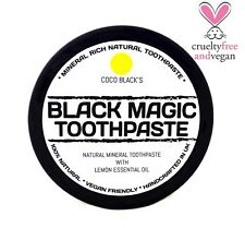 NATURAL MINERAL RICH COCONUT OIL CHARCOAL TOOTHPASTE * LEMON OIL *100g  * VEGAN