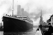 New 5x7 Photo: White Star Line Ill-Fated Liner RMS TITANIC in Port, 1912