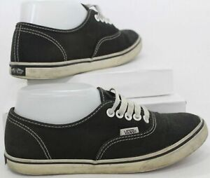 VANS Off The Wall Unisex Skater Shoes - Black Canvas US Size Mens 5 Womens 6.5