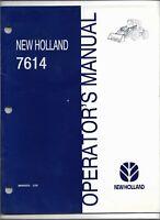 Original OE OEM New Holland Model 7614 Loader Operators Manual 86563223 03/1998