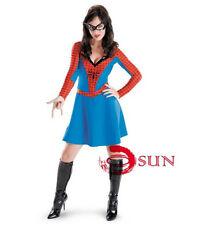 New Ladies Spiderman Spider Woman Girl Costume Halloween Party Fancy Dress COS14