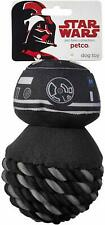 """PETCO StarWars 1st First Order Black BB-9 E Unit 6""""Rope Ball Dog Squeaky Toy NEW"""