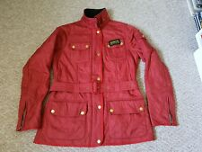 Barbour International polarquilt Jacket..red with full brass set ladies size 10.
