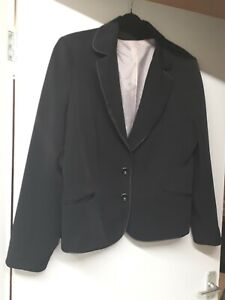 Ladies Dorothy Perkins Black Lined Suit Jacket Size 20