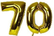 "16"" 70 Gold Number Balloons 70th Birthday Party Anniversary Foil Balloon Decor"