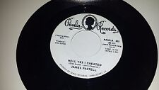JAMES PASTELL Hell Yes I Cheated / Woman Of The World PAULA 425 PROMO 45 7""