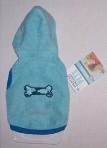 Martha Stewart Pets Blue Camp Camo Bone Hoodie Hooded Coat Dog XS Extra Small