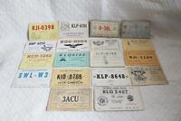 21 Vintage 1940s or 50s QSL Ham Radio CB Cards Pennsylvania-BL