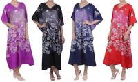 Kaftan Tunic Plus Size Beach Cover Up Maxi Dress Sleepwear Kimonos [K134 UK]