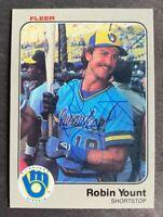 1983 Fleer Robin Yount #51 - Milwaukee Brewers - AUTO - HOF - NM