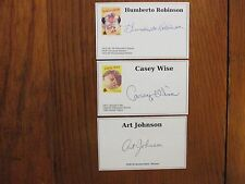 HUMBERTO ROBINSON/CASEY WISE/ART  JOHNSON  Signed Photo-Cards(EACH IS  DECEASED)