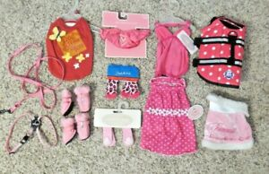 Girl Dog Clothes Outfits Huge Lot  Never worn NWT SIZE Small S Life Jacket socks